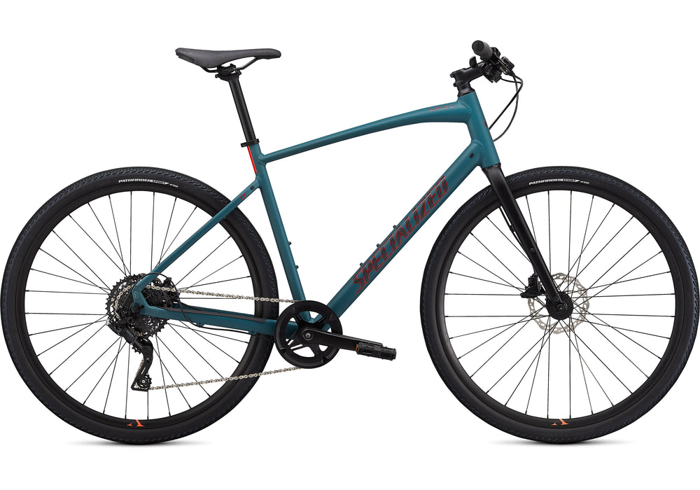 Specialized - Sirrus X 2.0 - 2021 - Dusty Turquoise / Black / Rocket Red - 1