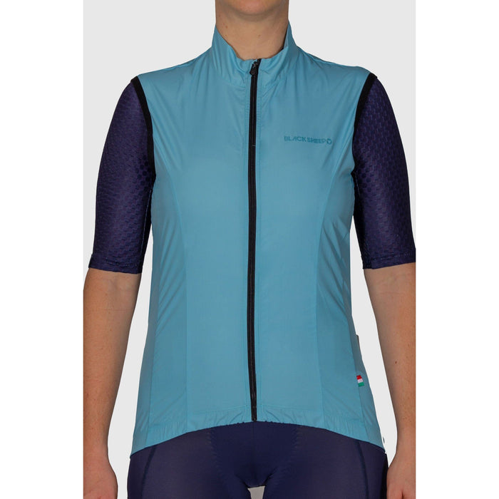 Black Sheep Cycling - Euro Collection Women's Malted Mint Wind Vest - XS - 1