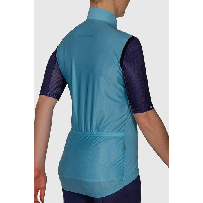 Black Sheep Cycling - Euro Collection Women's Malted Mint Wind Vest - XS - 3