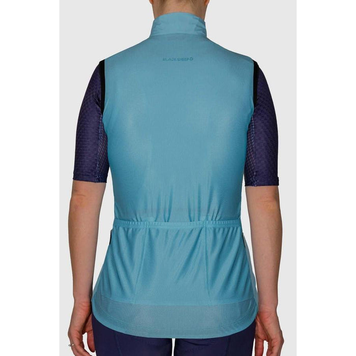 Black Sheep Cycling - Euro Collection Women's Malted Mint Wind Vest - XS - 4