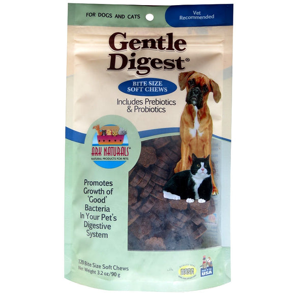 Ark Naturals Gentle Digest Chewables/Dogs and Cats