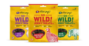 Go wild Jerky Treats-Grain Free Option