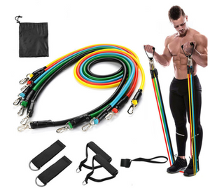 11Pcs Resistance Fitness Band set
