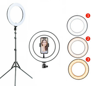 "10"" Ring Light 1.6M Tripod With Remote"