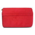Dabka Embroidered Suede Clutch ES1