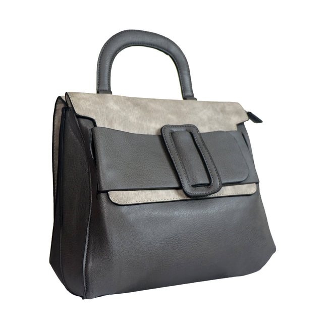 Big Buckle Top Handle Bag