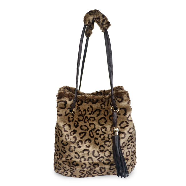 Fuzzy Fur Velboa - Puff Handle Tote