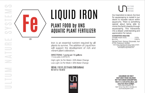 UNS Plant Food Liquid Iron Aquatic Plant Fertilizer