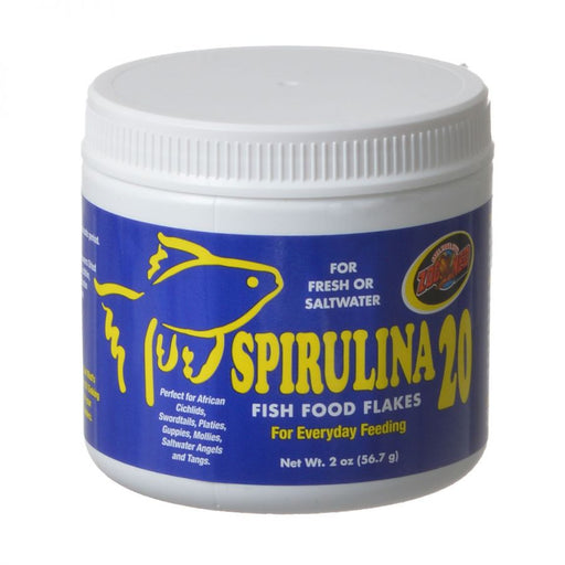 Zoo Med Aquatic Spirulina 20 Fish Food Flakes