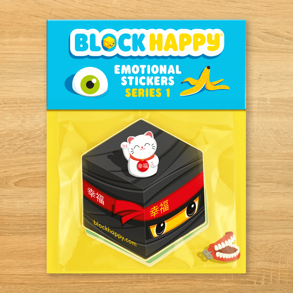 Block Happy, series 1, 10 sticker pack