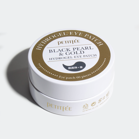 PETITFEE - Black Pearl & Gold Hydrogel Eye Patch - 60 pza