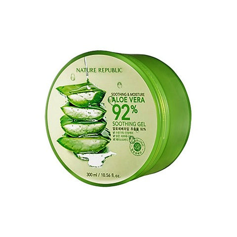 NATURE REPUBLIC - Soothing & Moisture Aloe Vera 92% Soothing Gel - 300ml