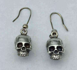SMALL SKULL EARRINGS - Orfebre Goldsmith NYC