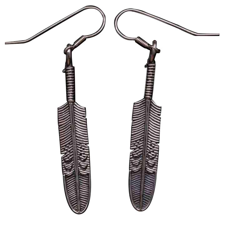 FEATHER EARRINGS - Orfebre Goldsmith NYC