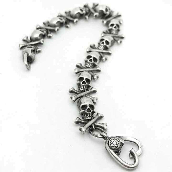 SKULLS AND BONES BRACELET - Orfebre Goldsmith NYC