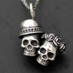 SKULL COUPLE PENDANT - Orfebre Goldsmith NYC