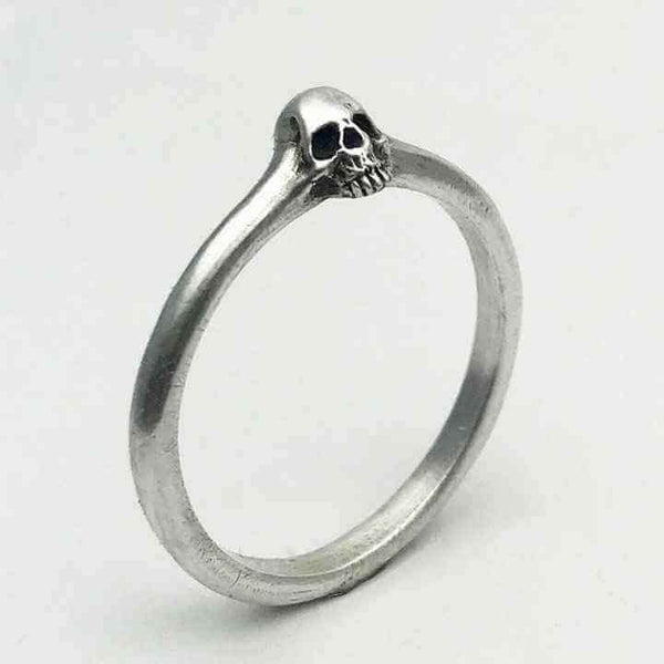 TINY SKULL RING - Orfebre Goldsmith NYC