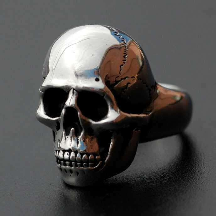 MEDIUM SKULL RING - Orfebre Goldsmith NYC
