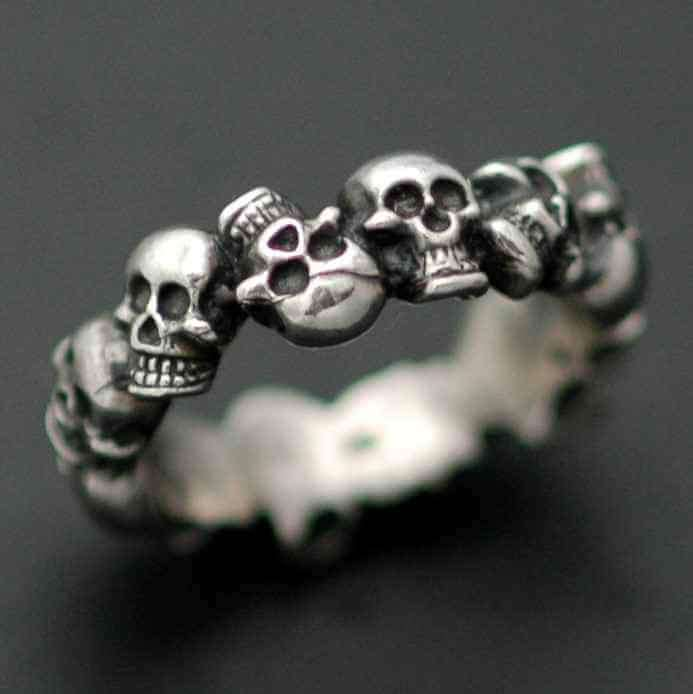 SKULL BAND - Orfebre Goldsmith NYC