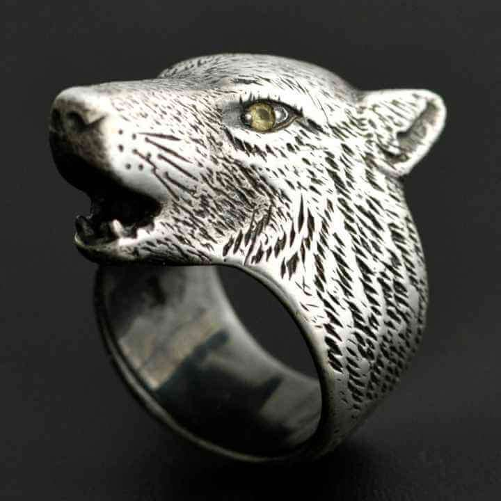HOWLING WOLF RING - Orfebre Goldsmith NYC
