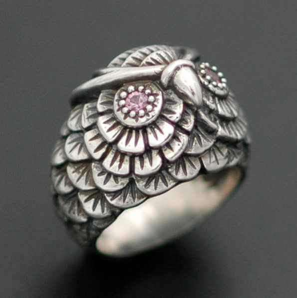 SMALL OWL RING - Orfebre Goldsmith NYC