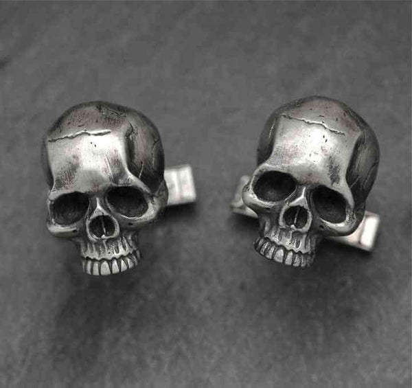 SKULL CUFFLINKS - Orfebre Goldsmith NYC