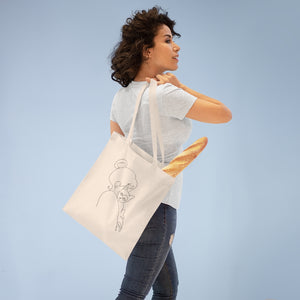 Minimal Outline Tote Bag - Catoro Cat Cafe