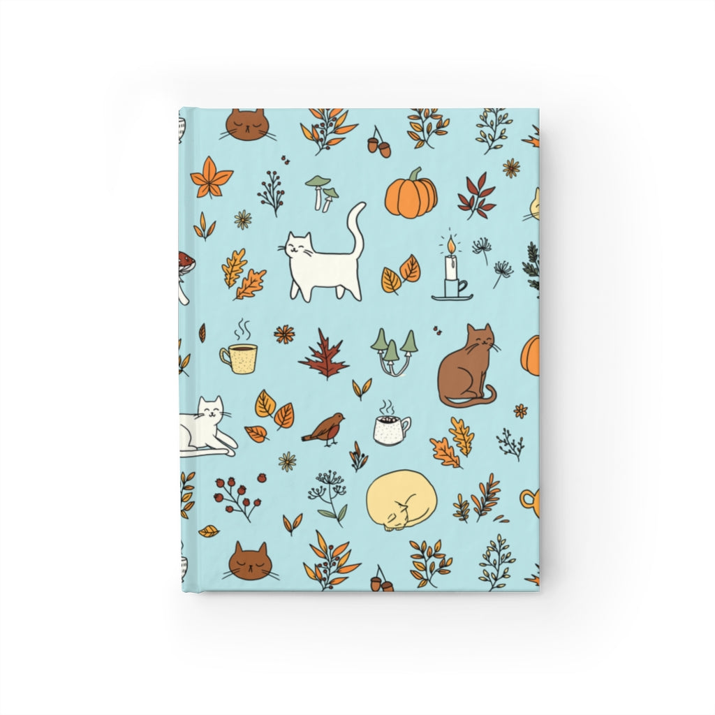 Fall Pattern Journal - Ruled Line - Catoro Cat Cafe