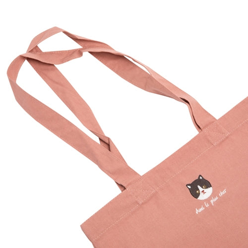 Embroidered Cat Tote - Catoro Cat Cafe