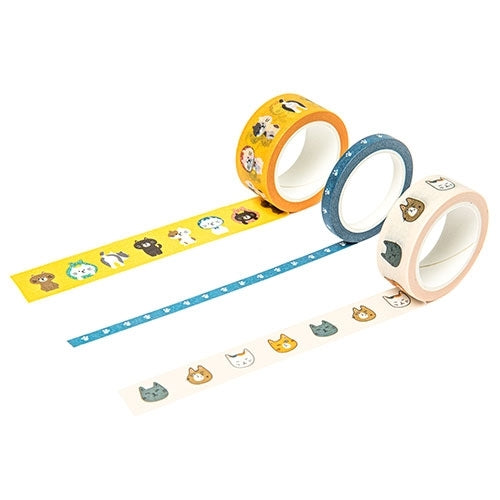 Masking Tape - Assorted Cats (Orange) - Catoro Cat Cafe