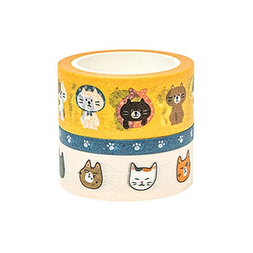 Washi Tape - Orange Cats - Catoro Cat Cafe