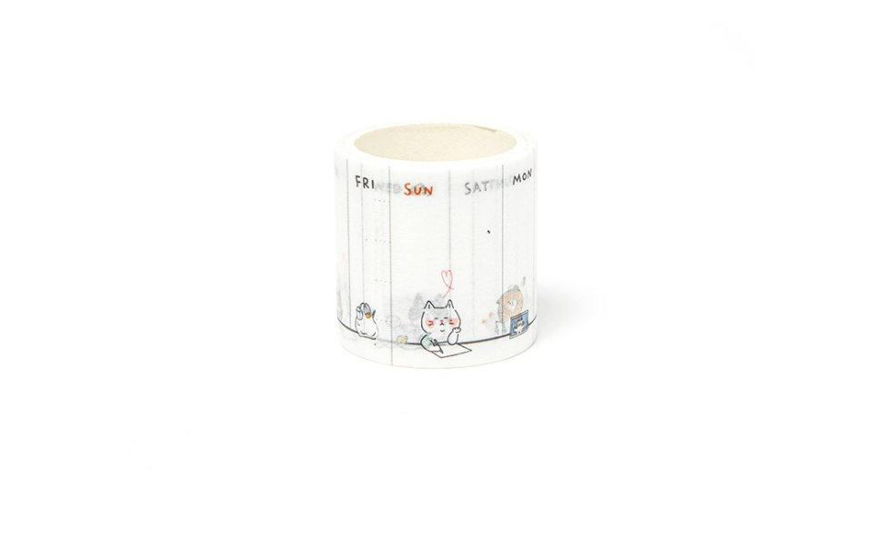 Masking Tape - Days of the Week - Catoro Cat Cafe
