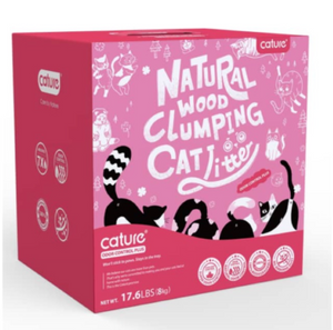 Cature Natural Wood Clumping Flushable Cat Litter Odor Control Plus (17.6lb) - Catoro Cat Cafe