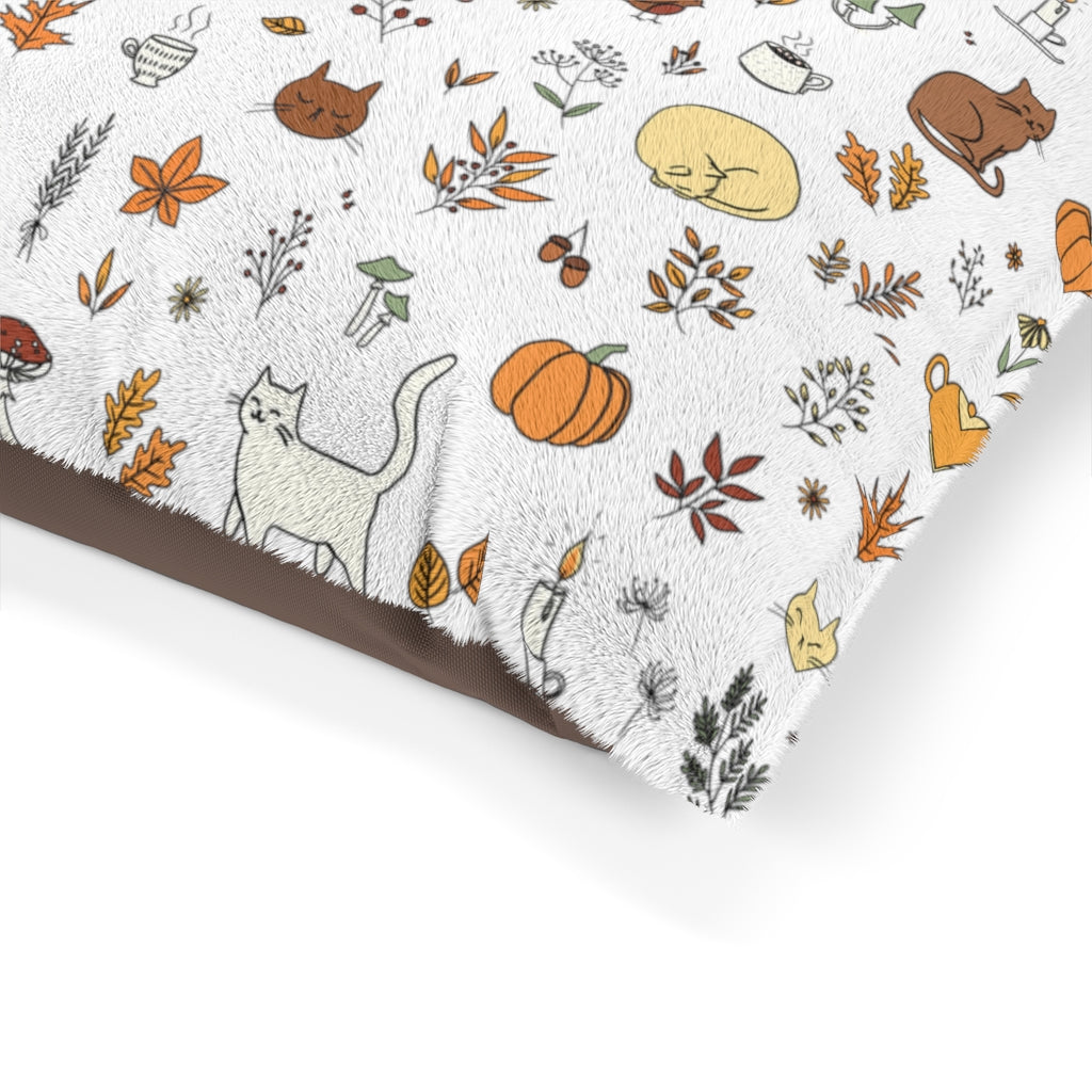 Fall Pattern Pet Bed - Catoro Cat Cafe