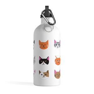 Cat Pattern Stainless Bottle - Catoro Cat Cafe