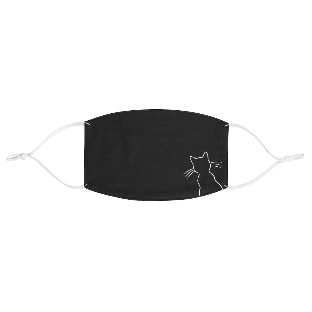 (IN-STORE) Cat Outline Face Mask (Black) - Catoro Cat Cafe