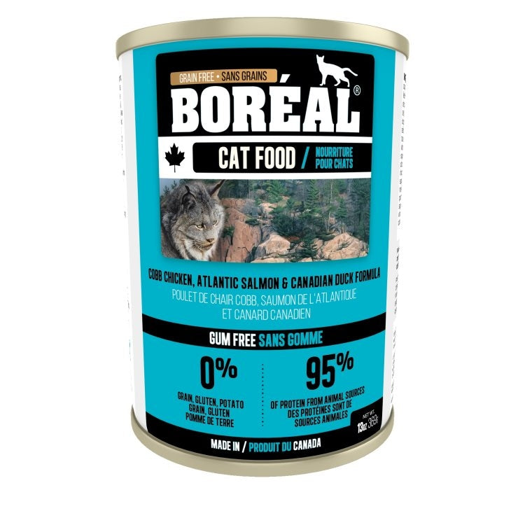 BOREAL Cat Atlantic Salmon & Canadian Duck Formula 369g - Catoro Cat Cafe