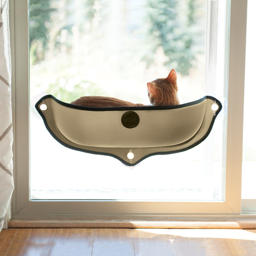 "Kitty Sill EZ Mount Window Tan 11x27"" - Catoro Cat Cafe"