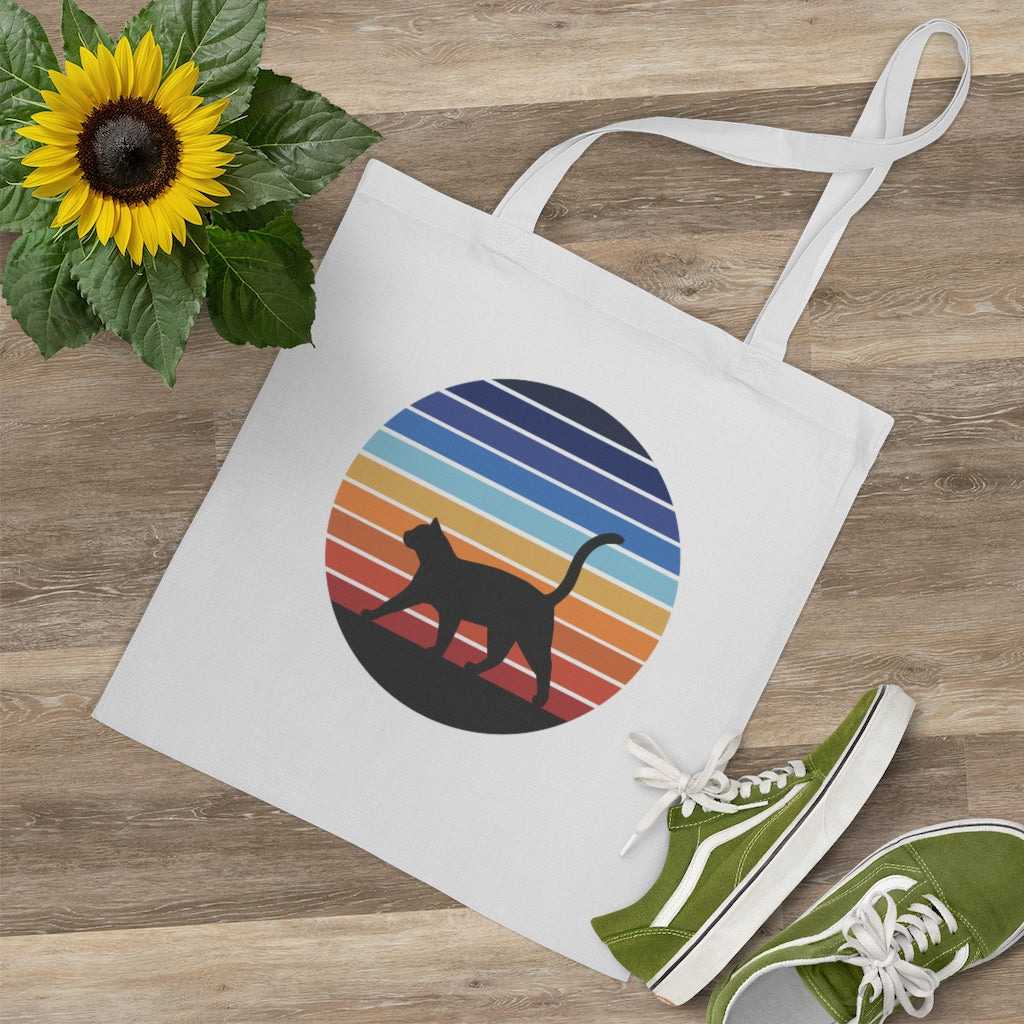 Retro Sunset Tote Bag - Catoro Cat Cafe
