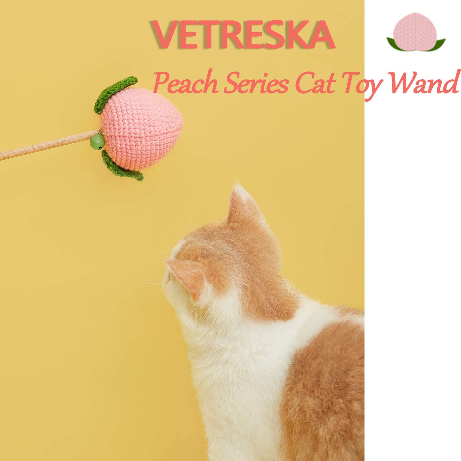 Vetreska Peach Cat Wand - Catoro Cat Cafe
