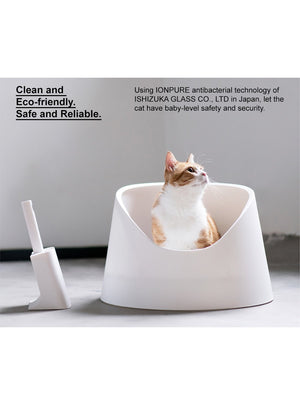 Cat Litter Box - Snow Mountain