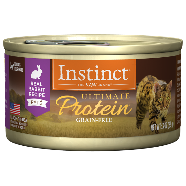 Instinct Cat Ultimate Protein GF Rabbit 24/3 oz Cans - Catoro Cat Cafe