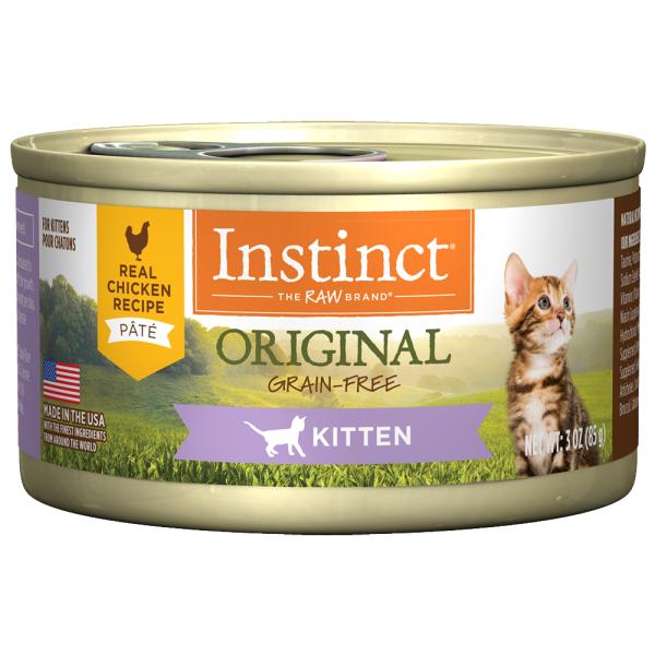 Instinct Cat Original GF Chicken Kitten 24/3 oz Cans - Catoro Cat Cafe