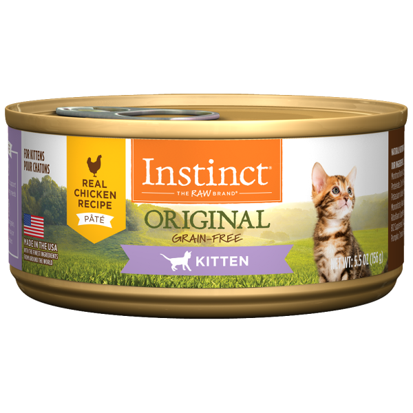 Instinct Cat Original GF Chicken Kitten 12/5.5 oz Cans - Catoro Cat Cafe