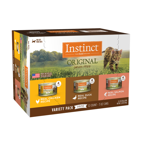 Instinct Cat Original GF Variety Pack 12/3 oz Cans - Catoro Cat Cafe