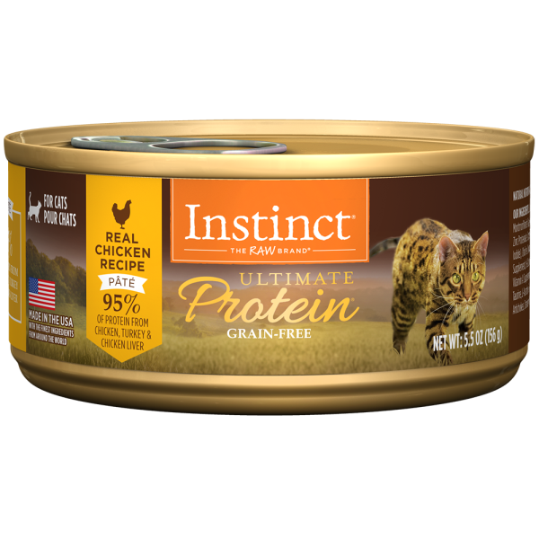 Instinct Cat Ultimate Protein GF Chicken 12/5.5oz Cans - Catoro Cat Cafe