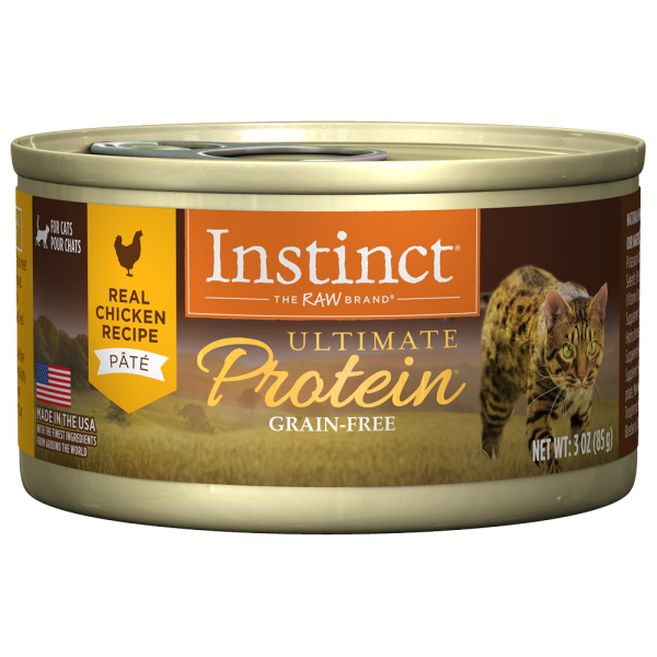 Instinct Cat Ultimate Protein GF Chicken 24/3oz Cans - Catoro Cat Cafe