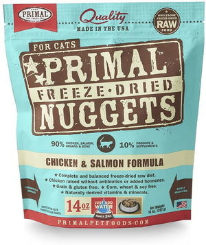 Primal Cat Freeze Dried Chicken Salmon 14 oz - Catoro Cat Cafe