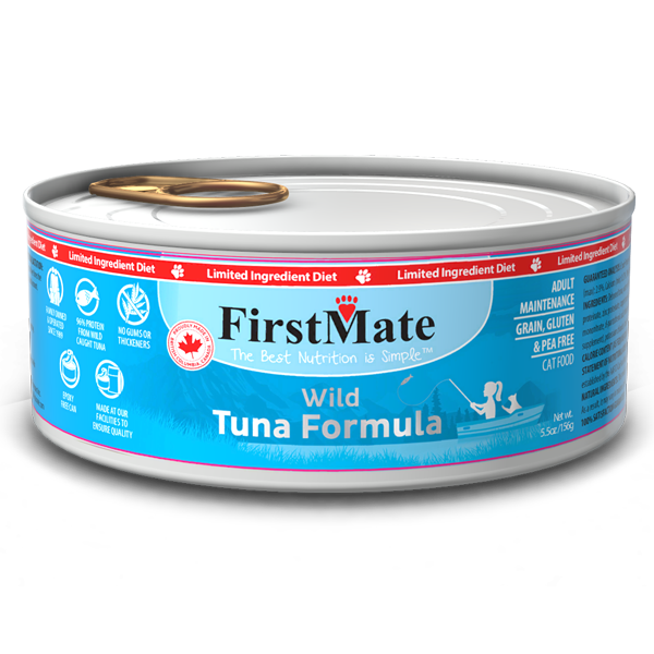 FirstMate Cat LID GF Wild Tuna (156g/5.5oz) - Catoro Cat Cafe