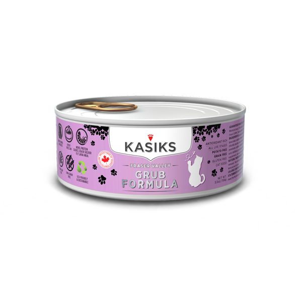 Kasiks Cat GF Fraser Valley Grub 24/5.5 oz - Catoro Cat Cafe
